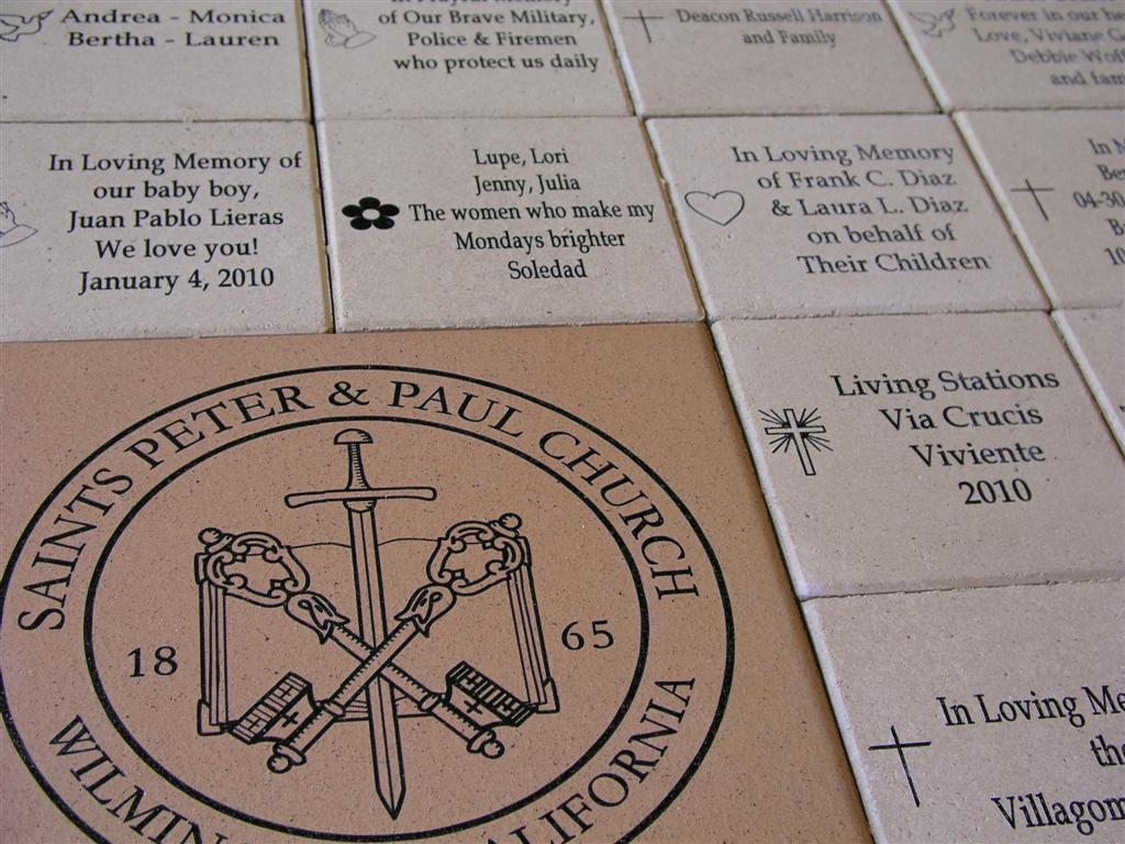 Saints Peter & Paul Church Laser Engraved Brick Fundraiser