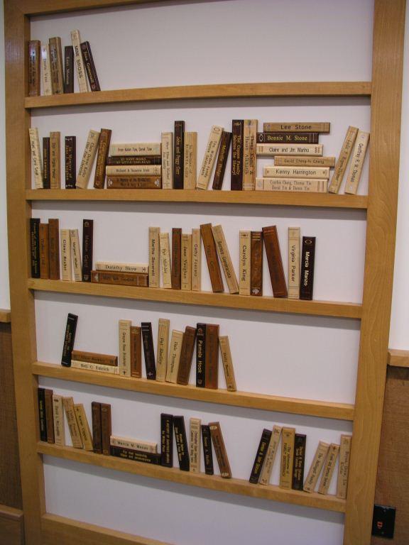 Laser Engraved Bookspines Bookshelf