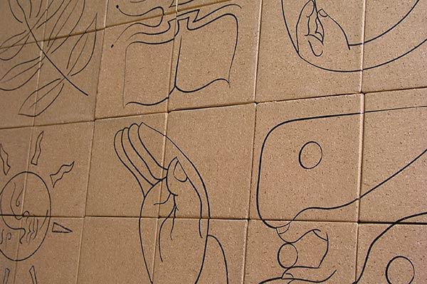 laser engraving art bricks