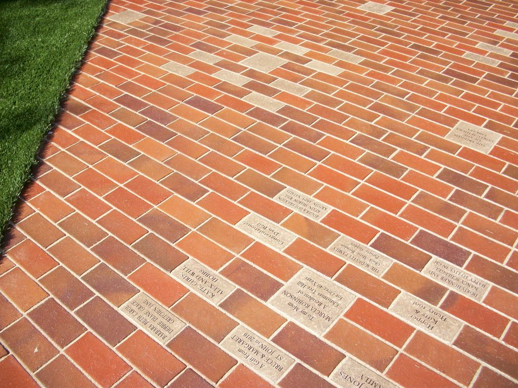 fundraising campaign with a laser engraved brick installation