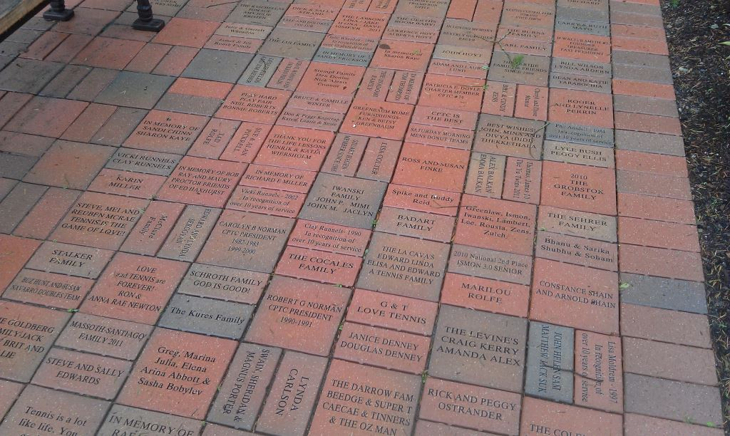 Fundraising with Engraved Bricks at the Central Park Tennis Club