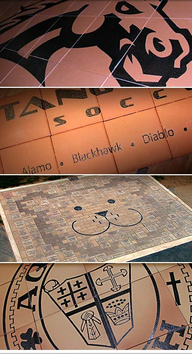 laser engraved graphic arrays engraved bricks
