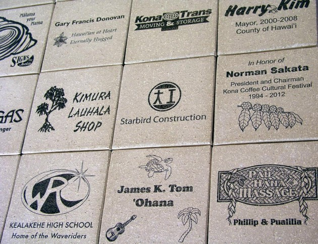 brick engraving tiles laser etching