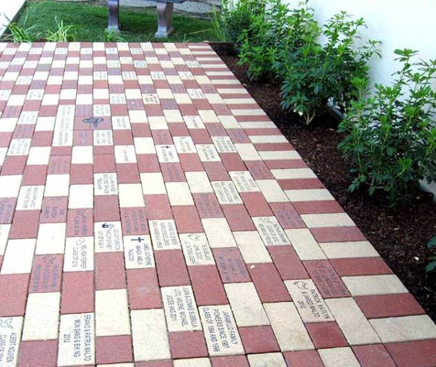 Engraved Bricks at St. John the Baptist School